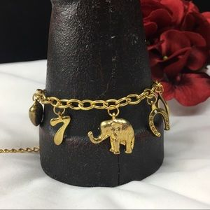 Jewelry - Gold Tone Lucky Charm Bracelet or Anklet